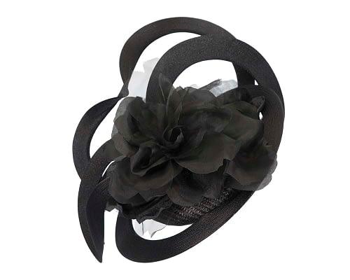 Fascinators Online - Large designers black fascinator by Fillies Collection 2