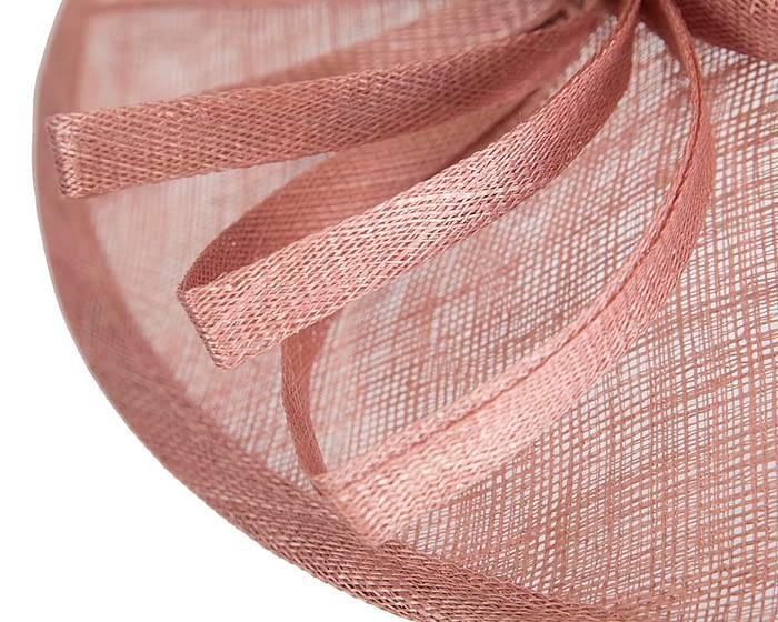 Fascinators Online - Dusty Pink ladies sinamay racing hat by Max Alexander 5