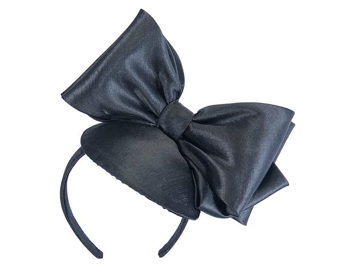 Fascinators Online - Large black bow fascinator by Max Alexander 2