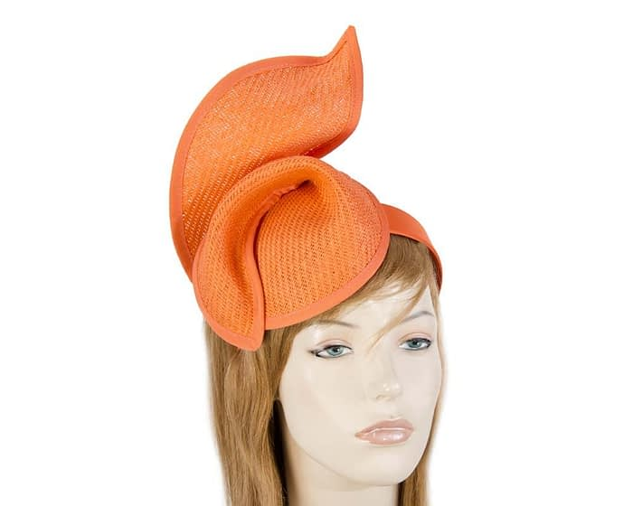 Fascinators Online - Orange twisted fascinator by Max Alexander 1