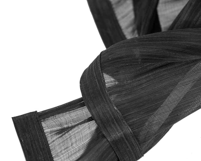 Fascinators Online - Black twists of silk abaca fascinator by Fillies Collection 3