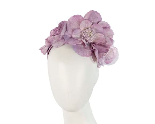 Fascinators Online - Lilac flowers on the headband 6