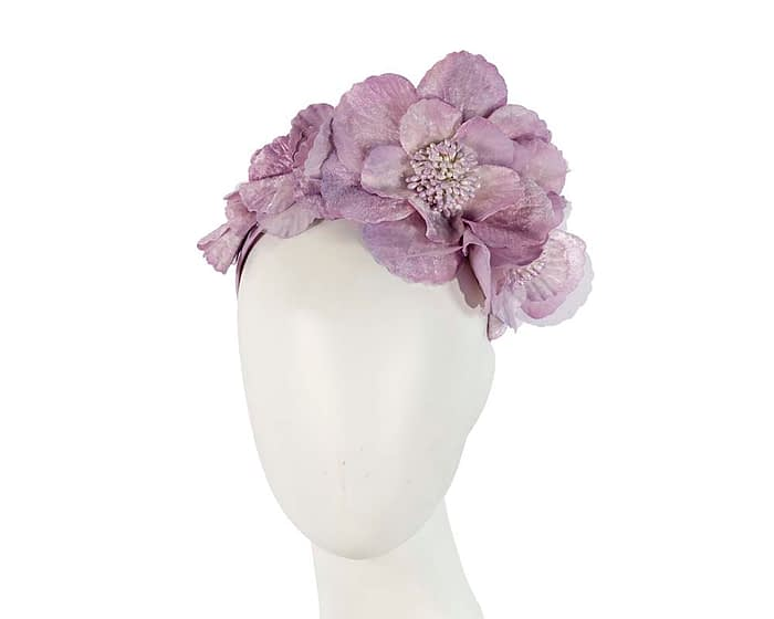 Fascinators Online - Lilac flowers on the headband 1