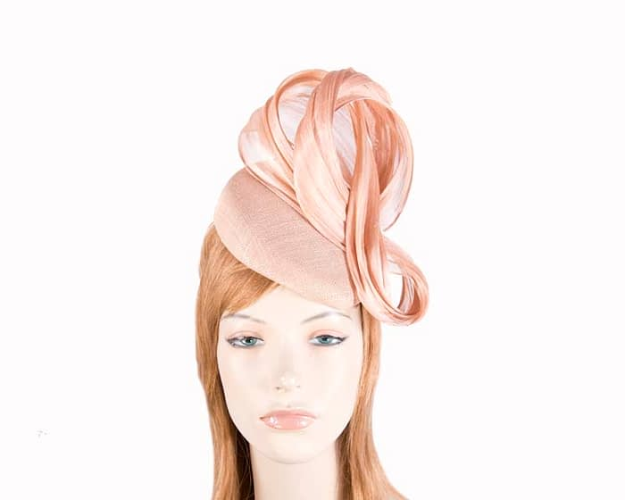 Fascinators Online - Nude pillbox with bow by Fillies Collection 1