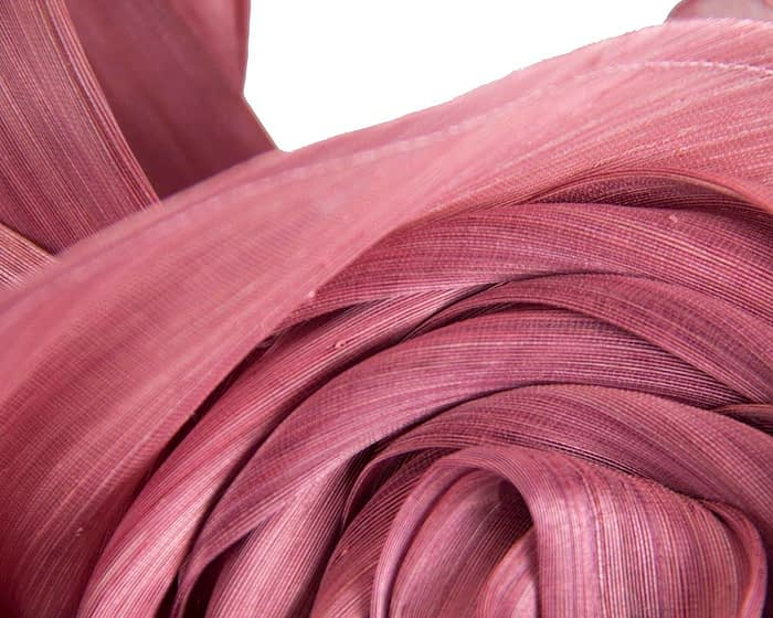 Fascinators Online - Dusty Pink sculptured silk abaca fascinator by Fillies Collection 3