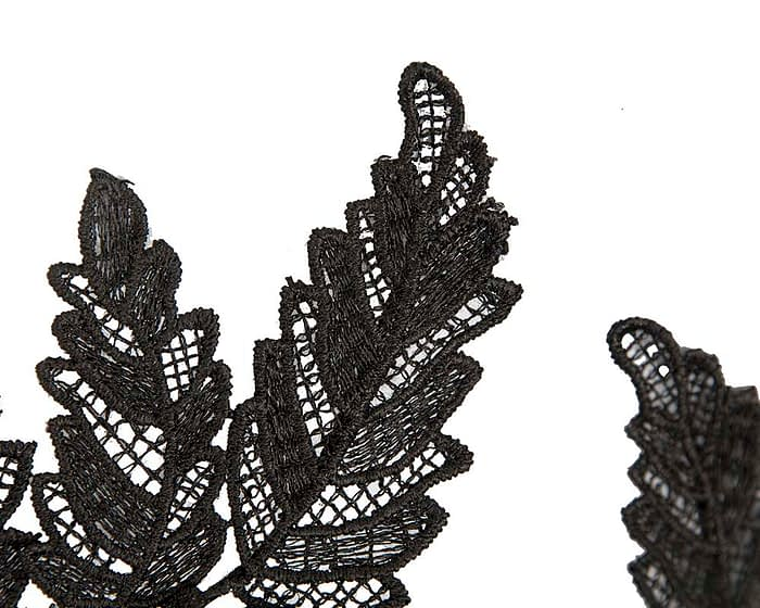 Fascinators Online - Black lace crown racing fascinator by Max Alexander 3