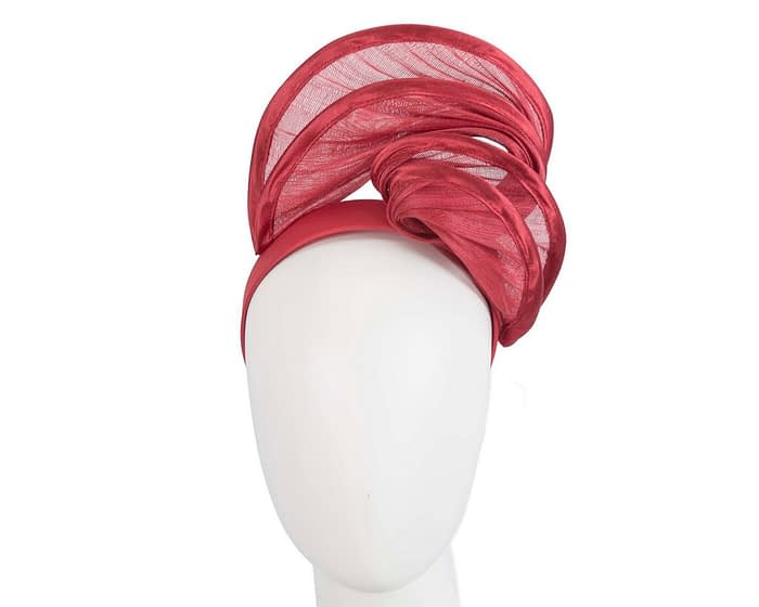Fascinators Online - Red headband racing fascinator by Fillies Collection 1