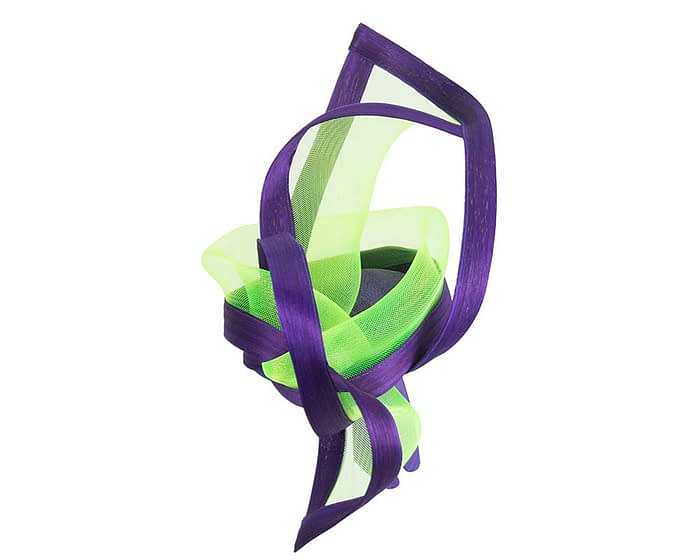Fascinators Online - Edgy purple & lime fascinator by Fillies Collection 3