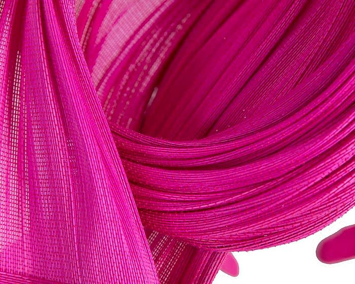 Fascinators Online - Twisted fuchsia jinsin racing fascinator by Fillies Collection 3