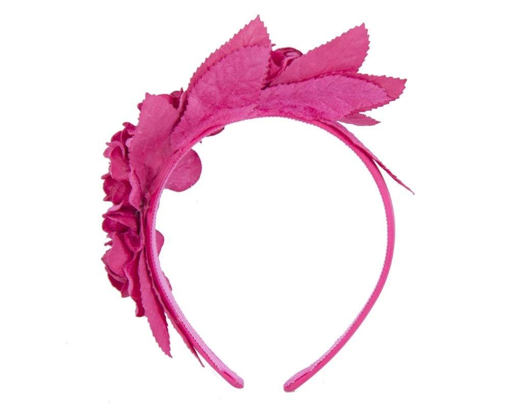 Fuchsia flower headband fascinator
