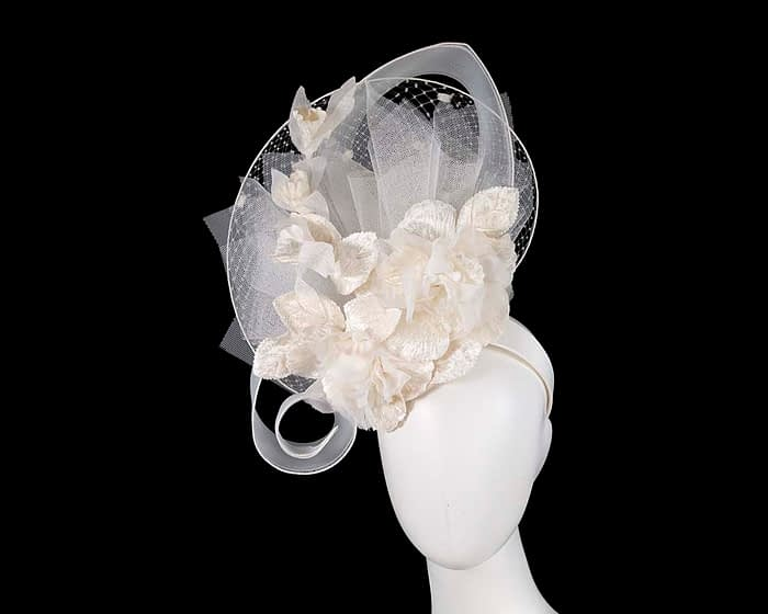 Fascinators Online - Bespoke ivory cream fascinator by Fillies Collection 1