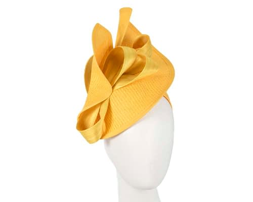 Fascinators Online - Yellow fascinator with bow by Fillies Collection 56