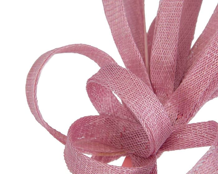 Fascinators Online - Dusty pink spiky sinamay racing fascinator by Max Alexander 3