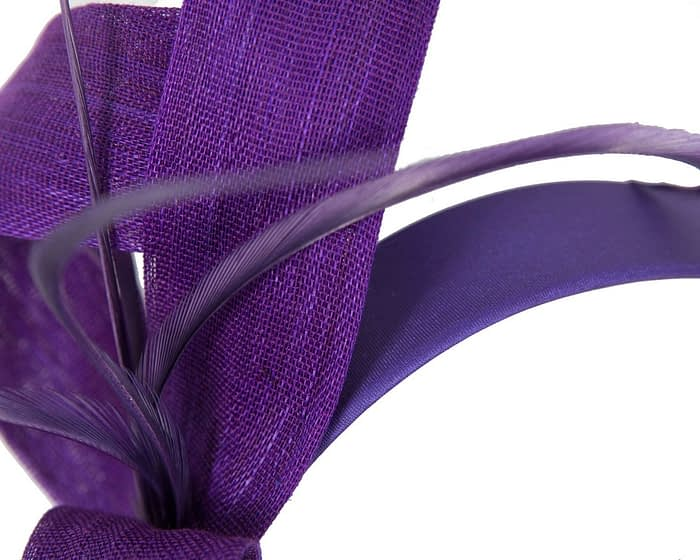 Fascinators Online - Purple loops headband fascinator by Fillies Collection 3