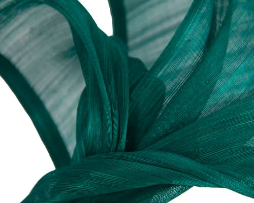 Fascinators Online - Teal twists of silk abaca fascinator by Fillies Collection 3