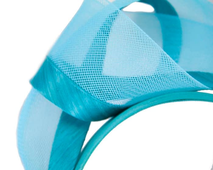 Fascinators Online - Turquoise turban headband by Fillies Collection 3