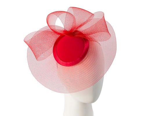 Fascinators Online - Red custom made Mother of the Bride cocktail hat 5