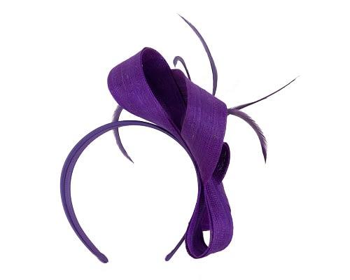 Fascinators Online - Purple loops headband fascinator by Fillies Collection 4