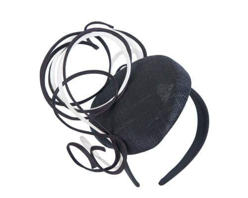 Fascinators Online - Designers black & white racing fascinator by Fillies Collection 2