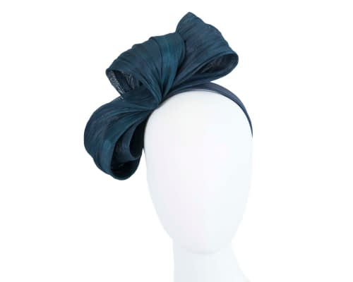 Fascinators Online - Navy bow racing fascinator by Fillies Collection 124