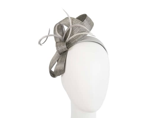 Fascinators Online - Silver loops headband fascinator by Fillies Collection 47