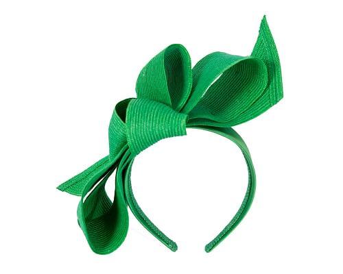 Fascinators Online - Large green bow fascinator by Max Alexander 2