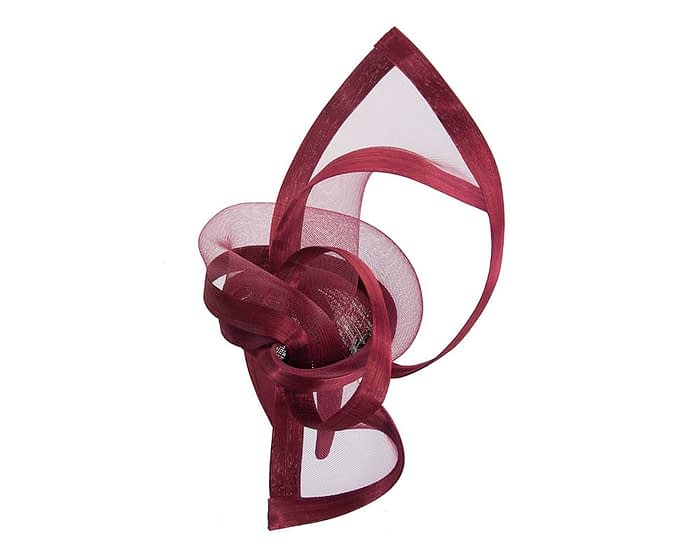 Fascinators Online - Edgy burgundy wine fascinator by Fillies Collection 4