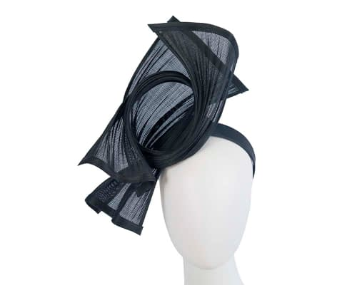 Fascinators Online - Twisted navy jinsin racing fascinator by Fillies Collection 1