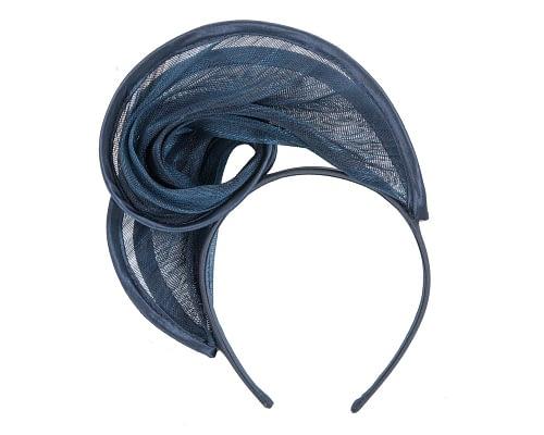 Fascinators Online - Navy headband racing fascinator by Fillies Collection 4