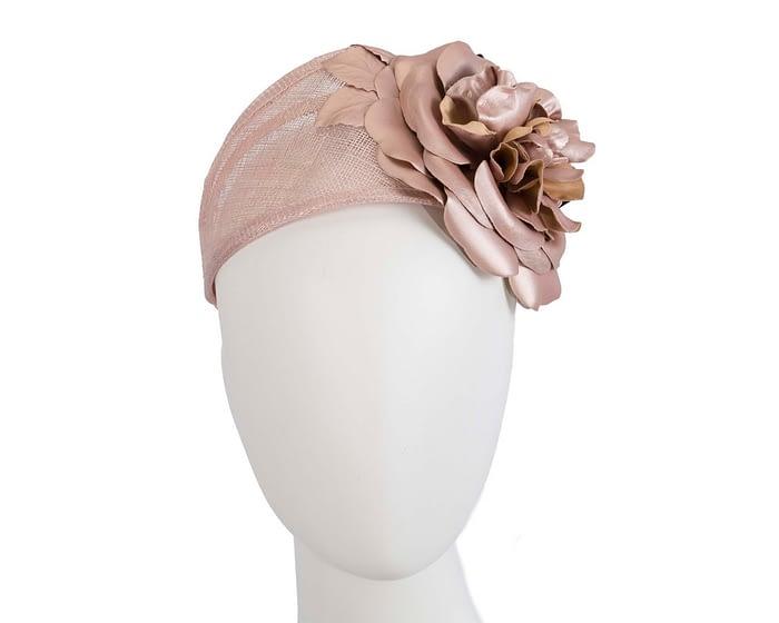 Fascinators Online - Rose gold leather flower headband fascinator by Max Alexander 1