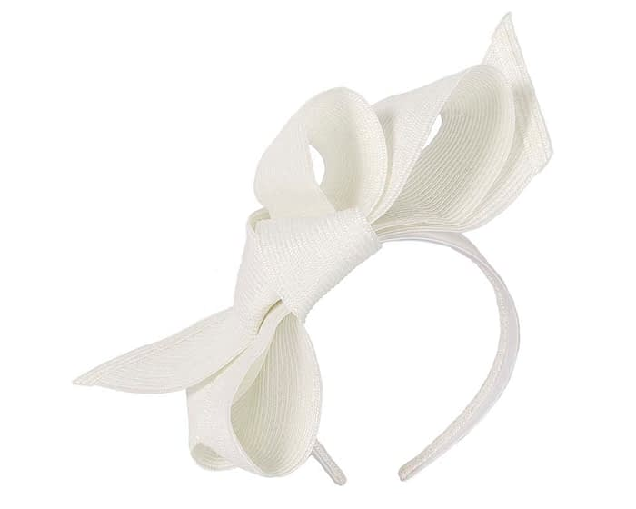 Fascinators Online - Large off white bow fascinator by Max Alexander 2