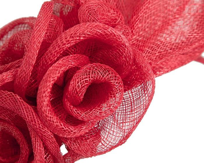 Fascinators Online - Large red flower headband fascinator by Max Alexander 3