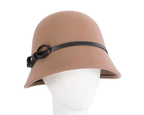 Fascinators Online - Beige felt cloche hat by Max Alexander 17