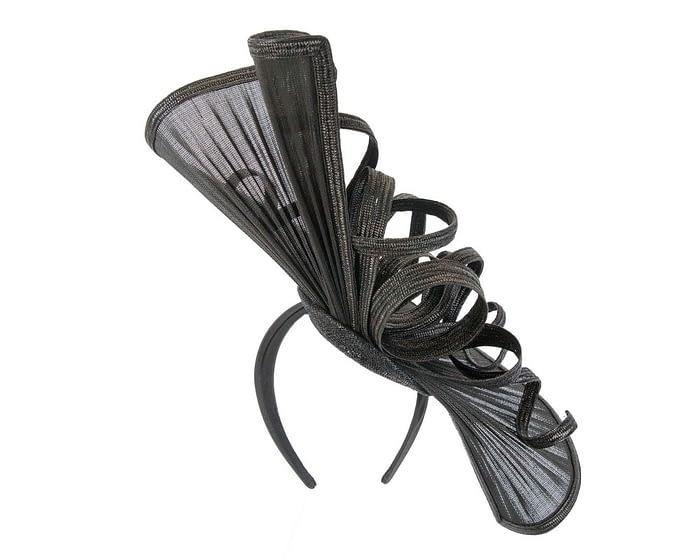 Fascinators Online - Large black jinsin racing fascinator by Fillies Collection 4