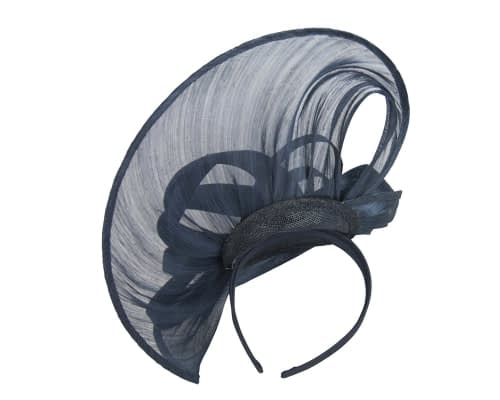 Fascinators Online - Large navy heart fascinator by Fillies Collection 4