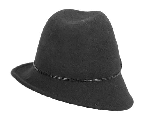 Fascinators Online - Black felt trilby hat by Max Alexander 5