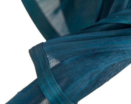 Fascinators Online - Marine blue twists of silk abaca fascinator by Fillies Collection 3