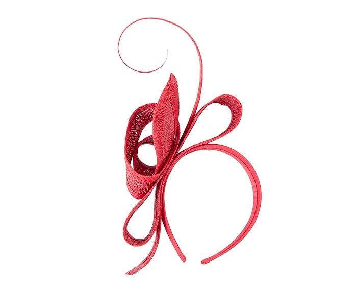 Fascinators Online - Red Australian Made bow fascinator 4