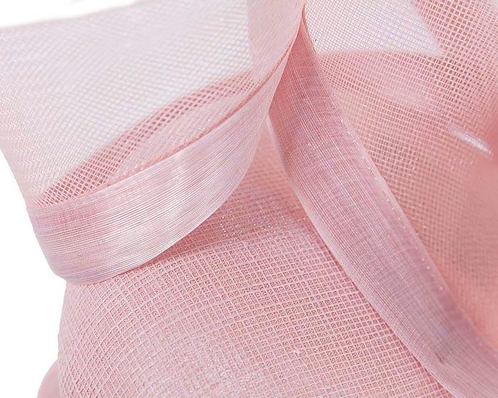 Fascinators Online - Tall modern pink pillbox racing fascinator 4