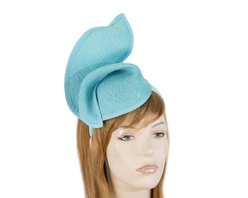 Fascinators Online - Turquoise twisted fascinator by Max Alexander 4