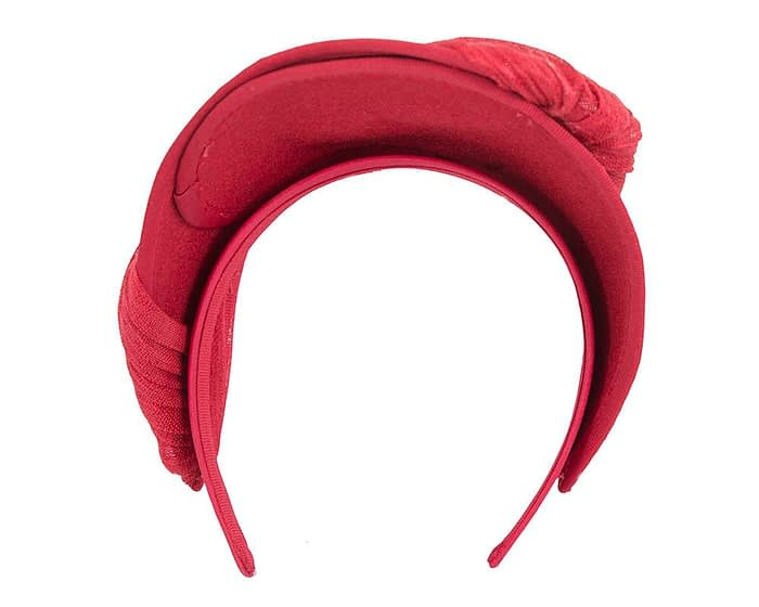 Fascinators Online - Red felt crown fascinator by Fillies Collection 4