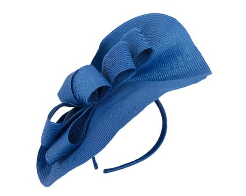 Fascinators Online - Large royal blue fascinator with loops by Max Alexander 2