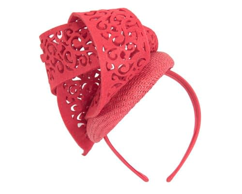 Fascinators Online - Red fascinator laser-cut trim by Fillies Collection 5