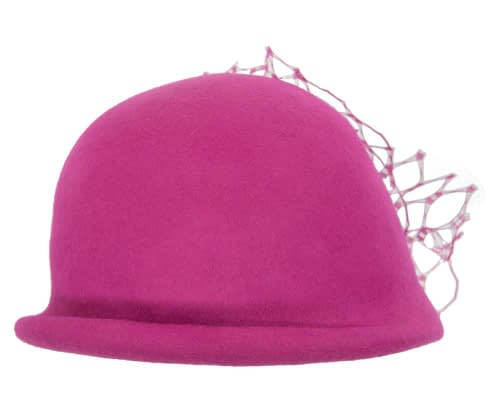 Fascinators Online - Fuchsia felt bucket hat from Fillies Collection 3