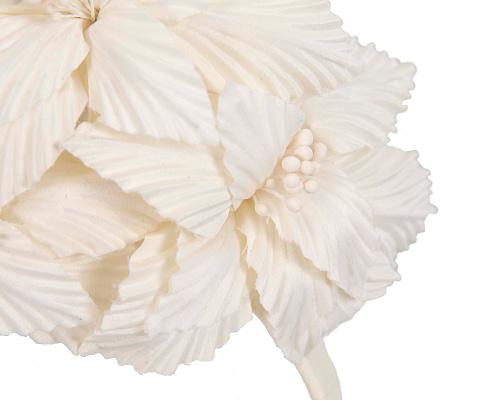 Fascinators Online - Cream sculptured handcrafted flower fascinator by Fillies Collection 3
