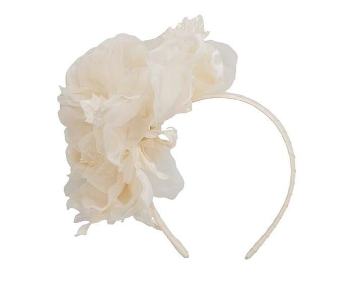 Fascinators Online - Cream Silk Flower Fascinator by Fillies Collection 2