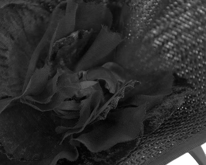 Fascinators Online - Bespoke large black flower fascinator by Fillies Collection 3