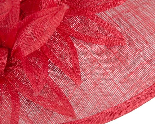 Fascinators Online - Large traditional red racing hat by Max Alexander 5