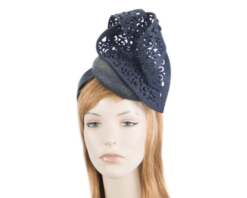 Fascinators Online - Navy fascinator laser-cut trim by Fillies Collection 1