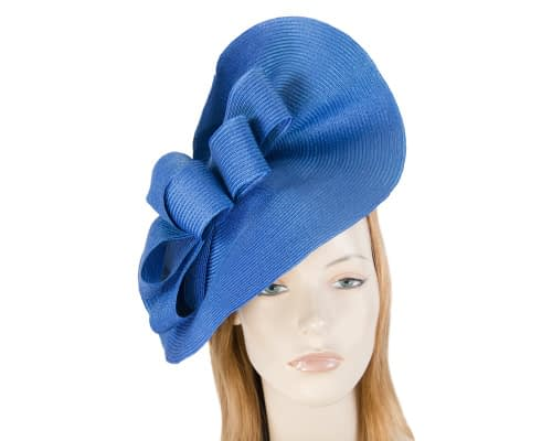 Fascinators Online - Large royal blue fascinator with loops by Max Alexander 1